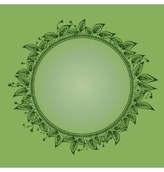 Foliate circle vector
