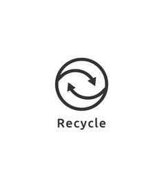 abstract recycle logo cycle arrow symbol icon vector image vector image