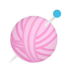 Ball of thread isometric 3d icon vector
