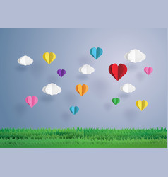 balloon in a heart shape vector image