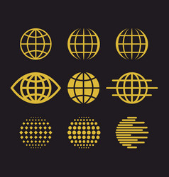 Big set of globes vector