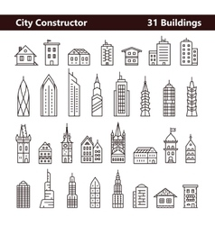 Cityscape constructor vector image vector image