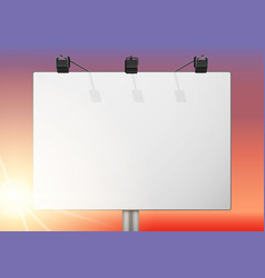 Closeup empty mockup billboard vector