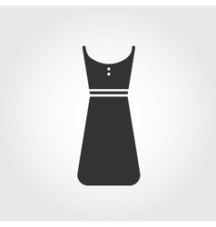 dress icon flat design vector image vector image