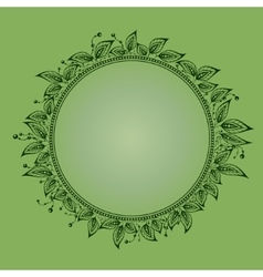 foliate circle vector image