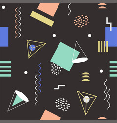 Funky seamless abstract geomertic pattern - modern vector