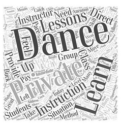 Great ways to learn to dance word cloud concept vector