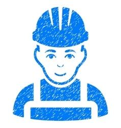 Happy mechanic grainy texture icon vector
