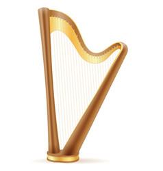 harp stock vector image