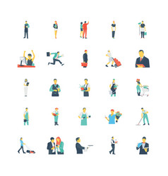 Human color icons 11 vector