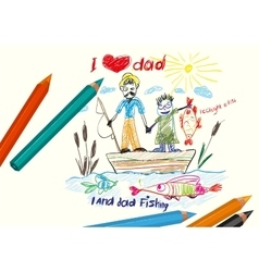 I love dad Happy Fathers day vector image