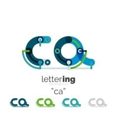 Linear business logo letter vector
