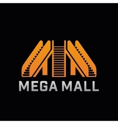 Logo of mega mall shop template logo of offline vector