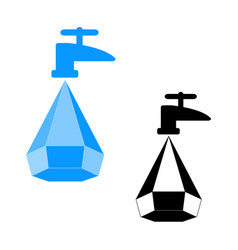 Logo water saving vector