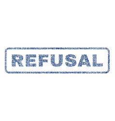 Refusal textile stamp vector