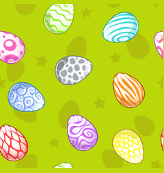 Seamless pattern with painted eggs vector