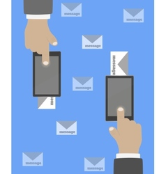 Smartphone in hand mail vector
