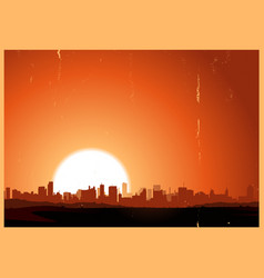summer sunrise city vector image vector image