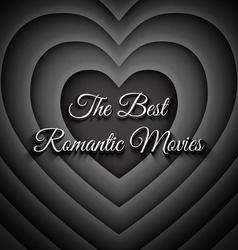 The best romantic movies vector