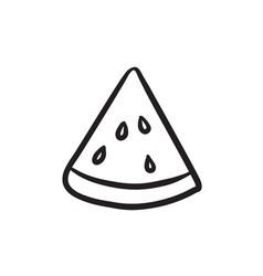 Watermelon sketch icon vector