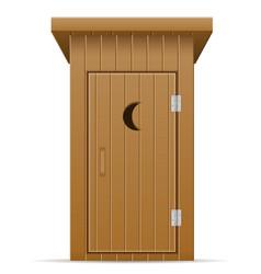 Wooden outdoor toilet vector