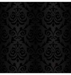 seamless black silk wallpaper pattern vector image