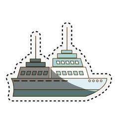 Cruise ship isolated icon vector
