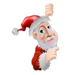 happy cartoon santa pointing to side vector image