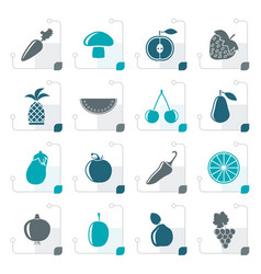stylized different kinds of fruits and vegetable vector image