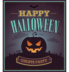 Happy halloween typographic design vector