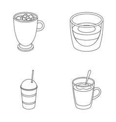 Ristretto hot chocolate latte take-away vector