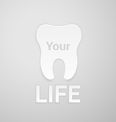 Tooth your life vector