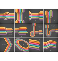 Set of colorful lines backgrounds vector
