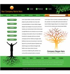 tree man roots webpage vector image