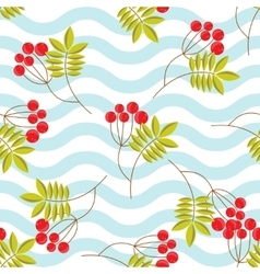 Rowanberry branch seamless pattern vector