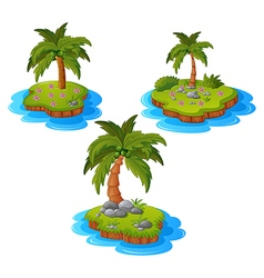 Set of tropical island vector