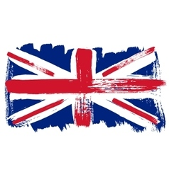 Big drawn flag of great britain vector