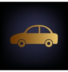 Car sign golden style icon vector