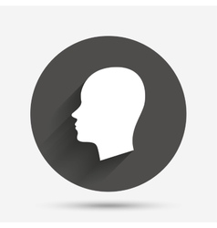 Head sign icon female woman human head vector