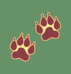 Animal tracks sign cordovan icon and vector