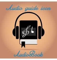 Audio book icon vector image