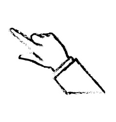 Business man finger hand pointing image sketch vector