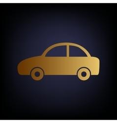 Car sign golden style icon vector