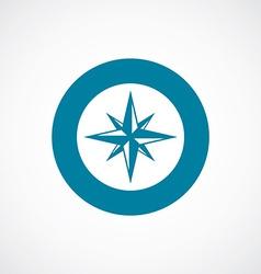 compass icon bold blue circle border vector image
