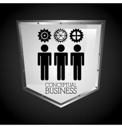 Conceptual business vector