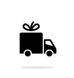 Delivery icon on white background vector image vector image