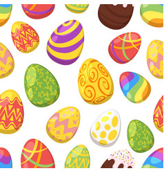 easter colorful festive eggs vector image vector image