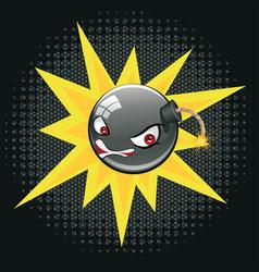 Evil round bomb vector
