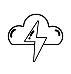 Figure cloud and thunder storm weather vector