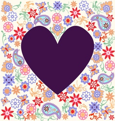 Floral pattern heart vector
